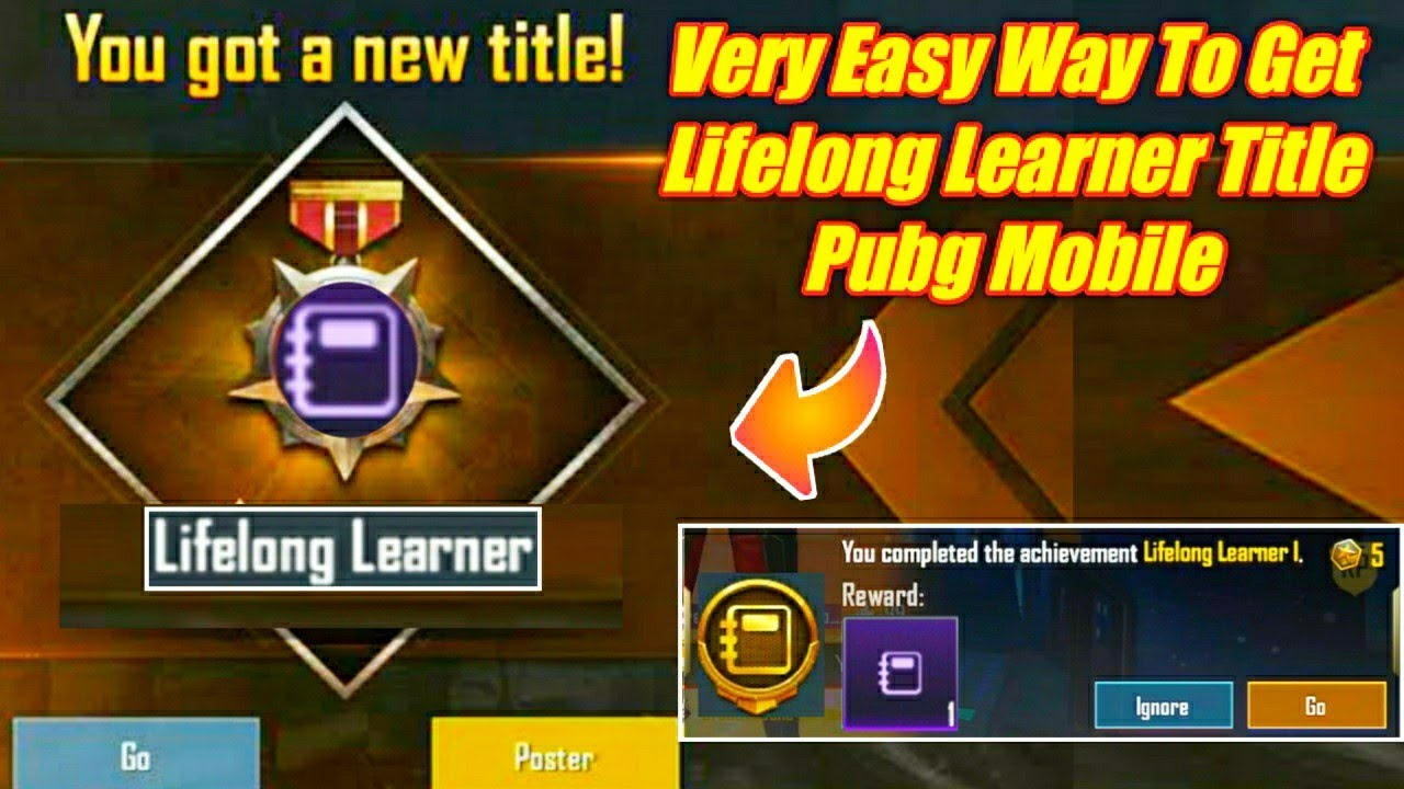 How To Complete Lifelong Learner Achievement Pubg How To Get Lifelong Learner Title Pubg Mobile Youtube