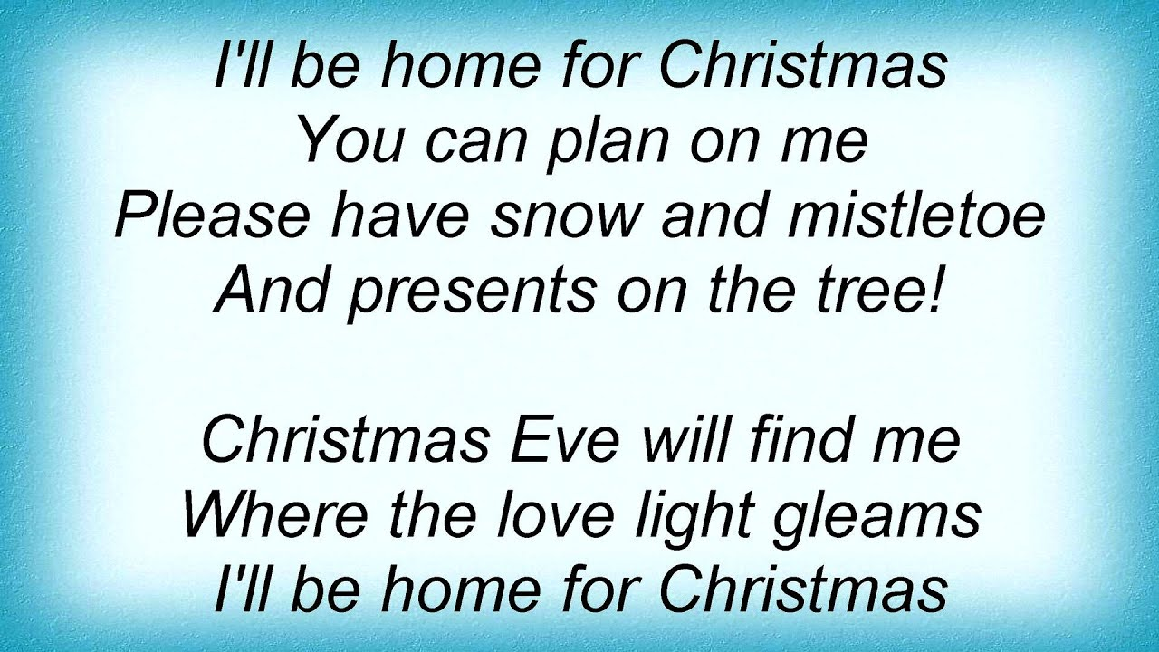17499 Perry Como - I\'ll Be Home For Christmas Lyrics - YouTube