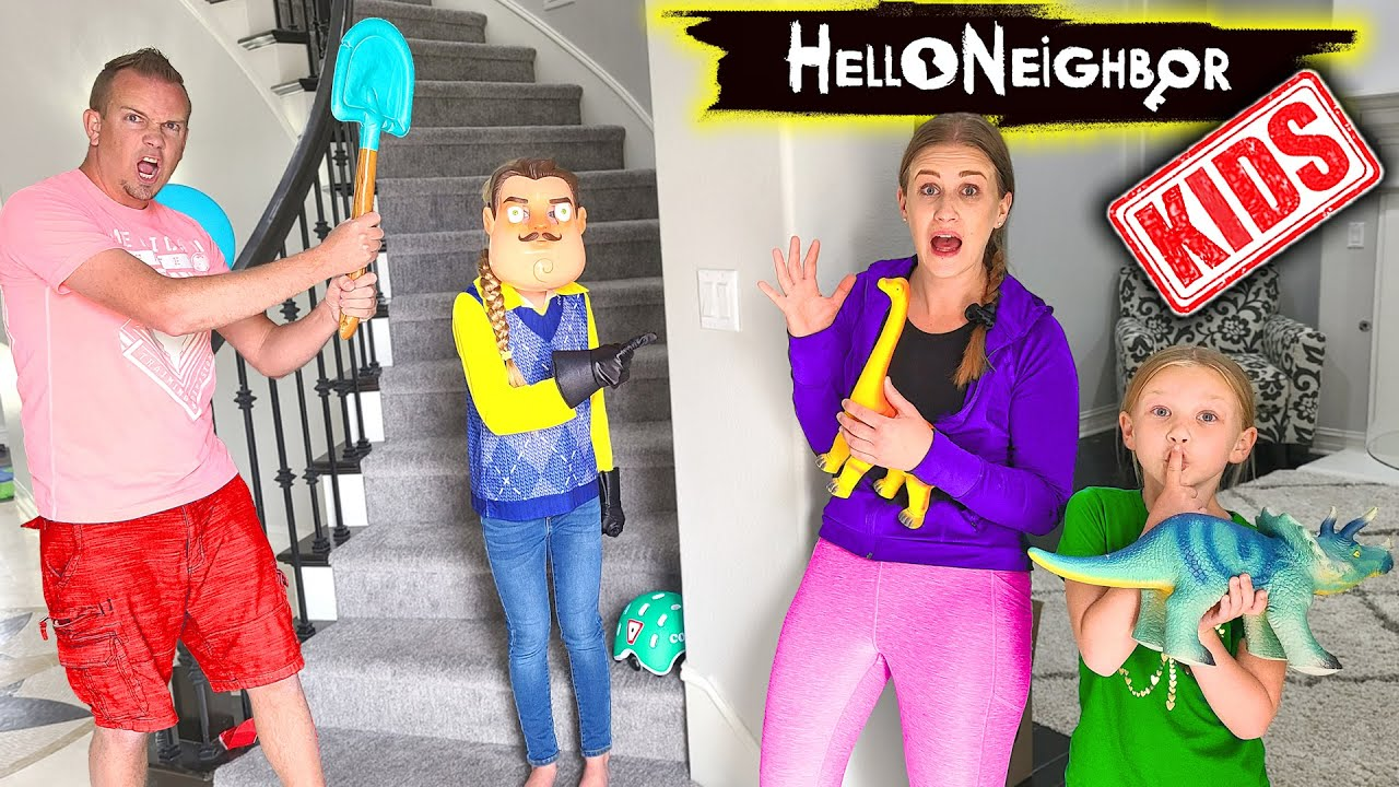 Kid Hello Neighbor in Real Life in Our House!!! Toy Scavenger Hunt!