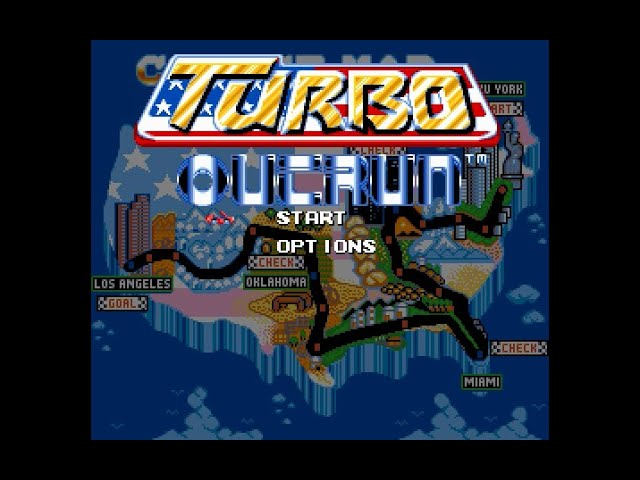 Mega Drive Longplay [153] Turbo Outrun