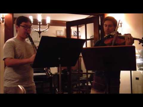 Peter Kim and Alejandro Gallagher Bruch Double Concerto.