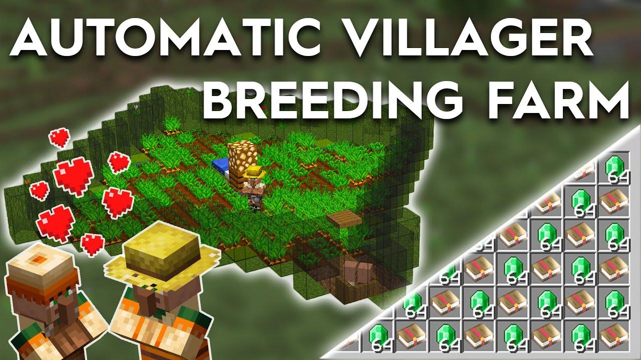 Minecraft Fully Automatic Villager Breeding System - 8.86/8.85