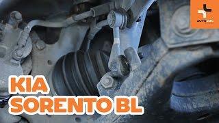 Cómo cambiar la bieletas de suspension delantero en KIA SORENTO BL INSTRUCCIÓN | AUTODOC