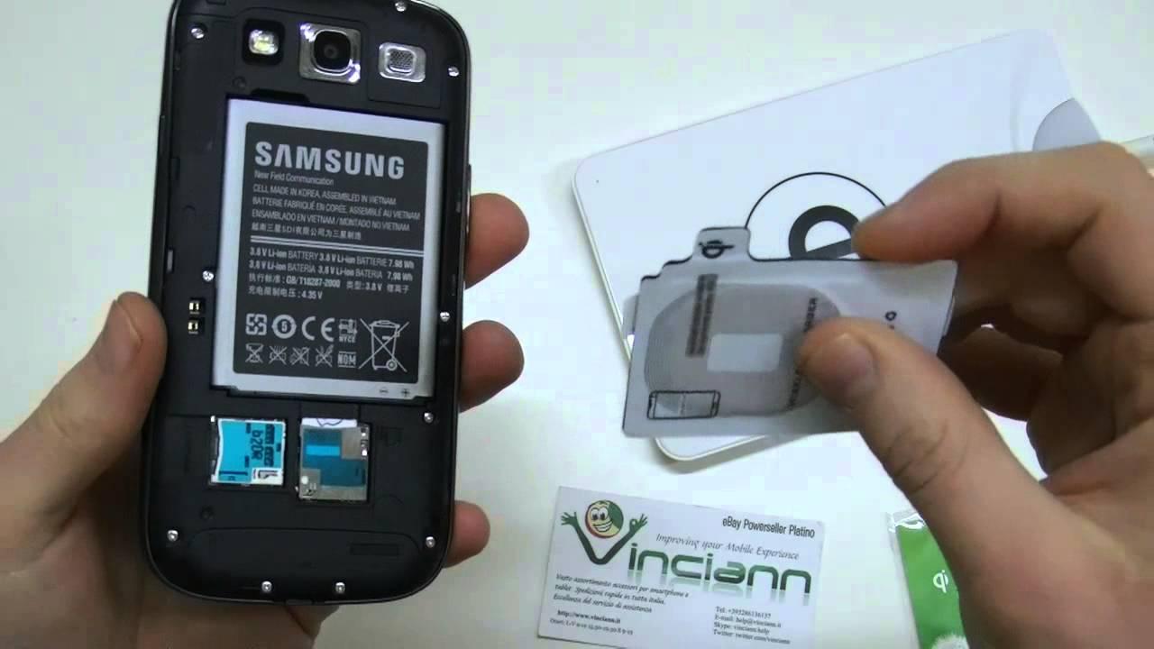 Ricevitore Per Ricarica Wireless Qi Per Samsung Galaxy S3