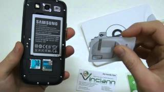ricevitore per ricarica wireless qi per samsung galaxy s3 i9300 e note 2 n7100