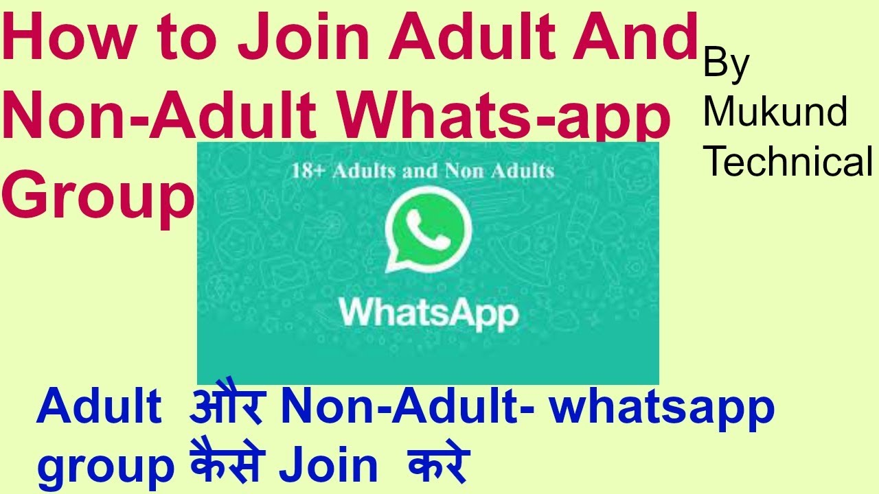 How to join Whatsapp Adult Group