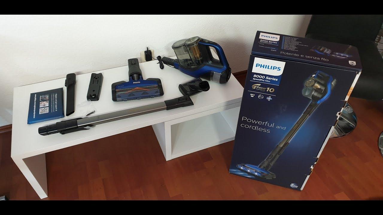 philips xc8045 01 speedpro max kabelloser staubsauger test youtube. Black Bedroom Furniture Sets. Home Design Ideas