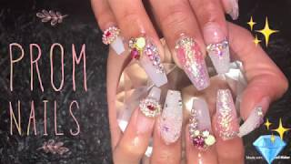 Acrylic Nails Tutorial For Beginners | Prom Nails