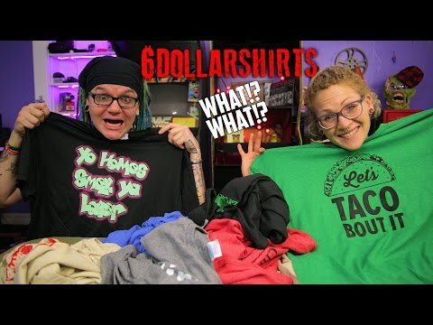 👕 6 Dollar Shirts Unboxing & Review | What!? What?👕