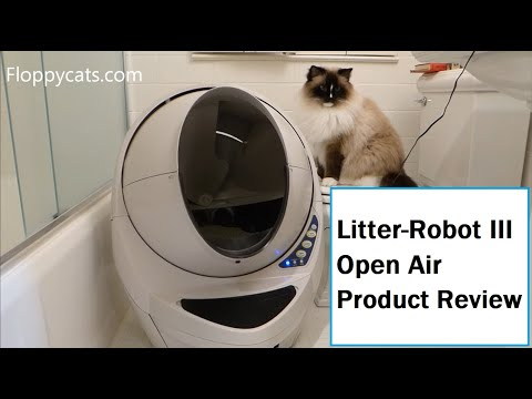 Litter Robot Open Air Review - Automatic Self Cleaning Litter Box Review - ねこ - ラグドール - Floppycats
