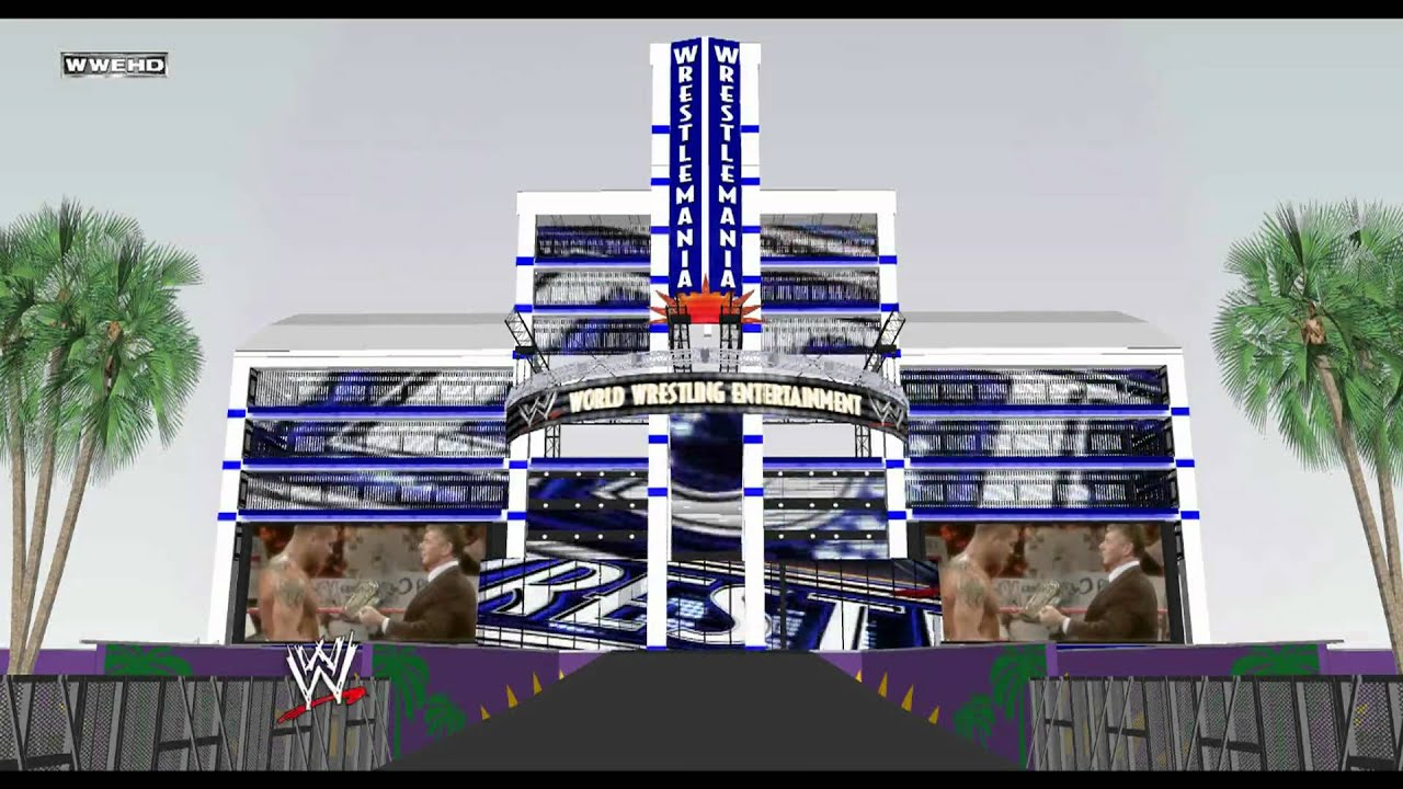 wwe wrestlemania xxiv hd stage intro and logo loop youtube