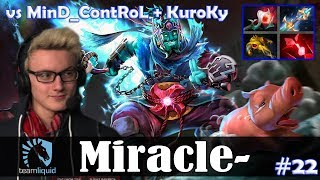 Miracle - Storm Spirit MID | vs KuroKy (Tiny) + MinD_ContRoL (Phoenix) | Dota 2 Pro MMR Gameplay #22
