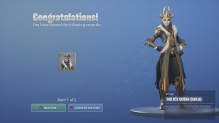 *UNLOCKING* NEW 'GOLD ICE QUEEN' Epic Skin Colour! (Fortnite Challenge Complete)