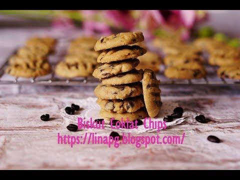 Resepi Biskut Coklat Chips Rangup Mudah Dan Sedap |Kuih Raya Simple - YouTube