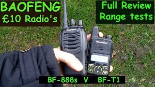 Video Baofeng BF-T1 V BF- 888s Review and real life range tests download MP3, 3GP, MP4, WEBM, AVI, FLV Agustus 2018