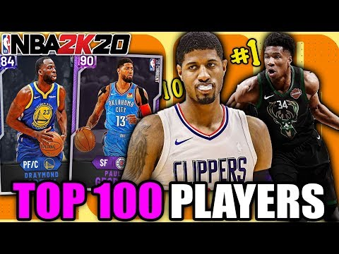 TOP 100 NBA PLAYERS RIGHT NOW! NBA 2K20 MyTeam Squad Builder