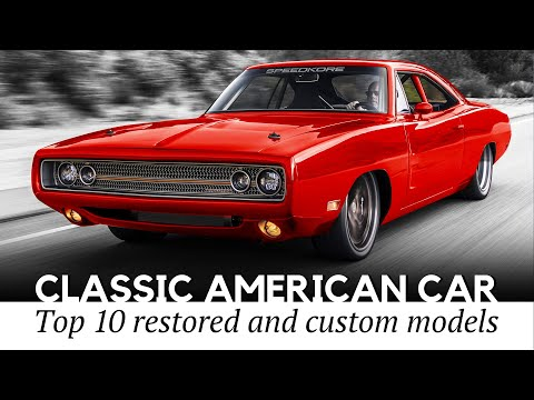 10 American Classic Cars with Renewed Interiors and Exteriors (Remastered Historic Models)