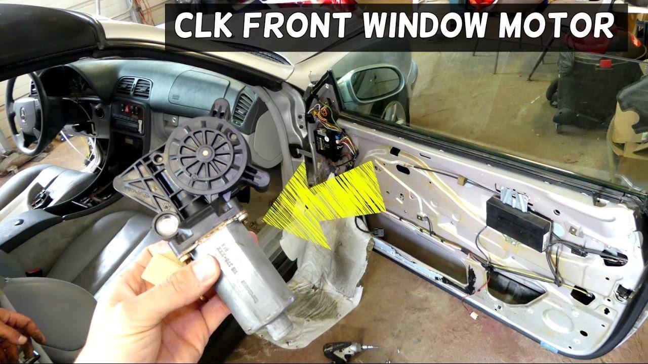 Mercedes clk w208 window regulator motor removal for How to fix car window motor