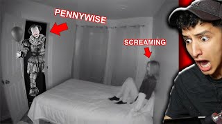 Pennywise The Clown Sneaks Into My Room... (SO SCARY)