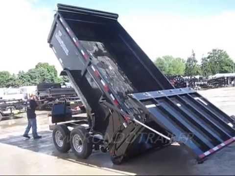 Load Trail Dump trailer Hydraulic combo ramp gate trailer with tarp 9922