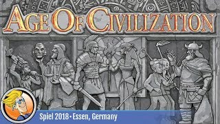 Age of Civilization — game overview at SPIEL '18