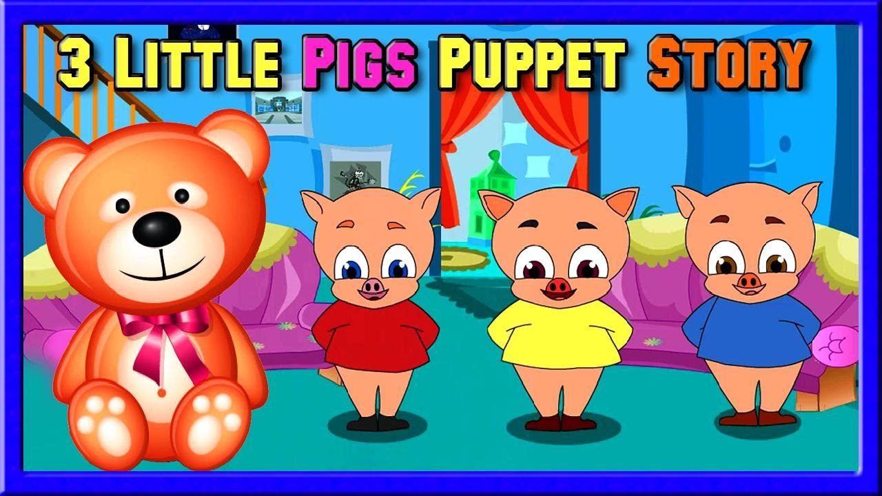 Uncategorized Three Little Pigs Story For Kids 3d cartoon tales for kids the three little pigs puppet story comic from collection