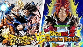 DBZ DOKKAN BATTLE VS DRAGON BALL LEGENDS