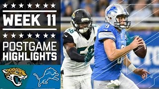 Jaguars vs. Lions | NFL Week 11 Game Highlights
