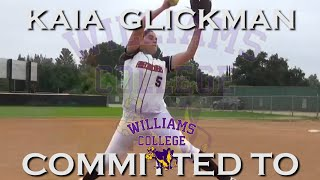 "Gambar cover 2021 Kaia Glickman Pitcher 5'10"" First Base ""Power Hitter"" Softball Skills Video"