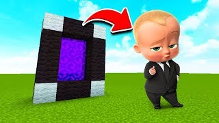 How To Make a Portal to the BABY BOSS Dimension in MCPE (Minecraft PE)
