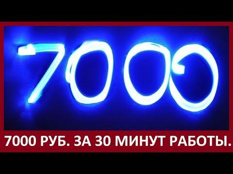 Мой заработок более 7000 руб. за 30 минут на E-mail рассылке.