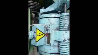 Работа Тормозного магнита лебедки ЛЛ-610 МогилевЛифтМаш