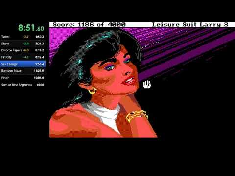 Leisure Suit Larry 3: Passionate Patti in Pursuit of the Pulsating Pectorals (Any%) in 14:48.16 (WR) |