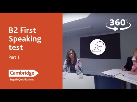 Cambridge Assessment English: B2 First, Part 1