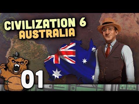 Mapa da Terra – Civilization 6 Austrália #01 – Gameplay Português PT-BR