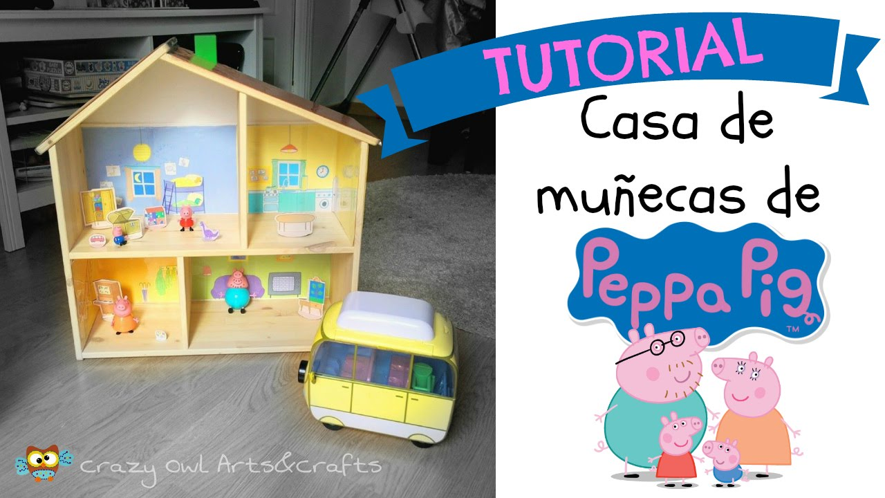 Tutorial casa de PEPPA PIG a partir de la casa de muecas de IKEA  Muy fcil  YouTube