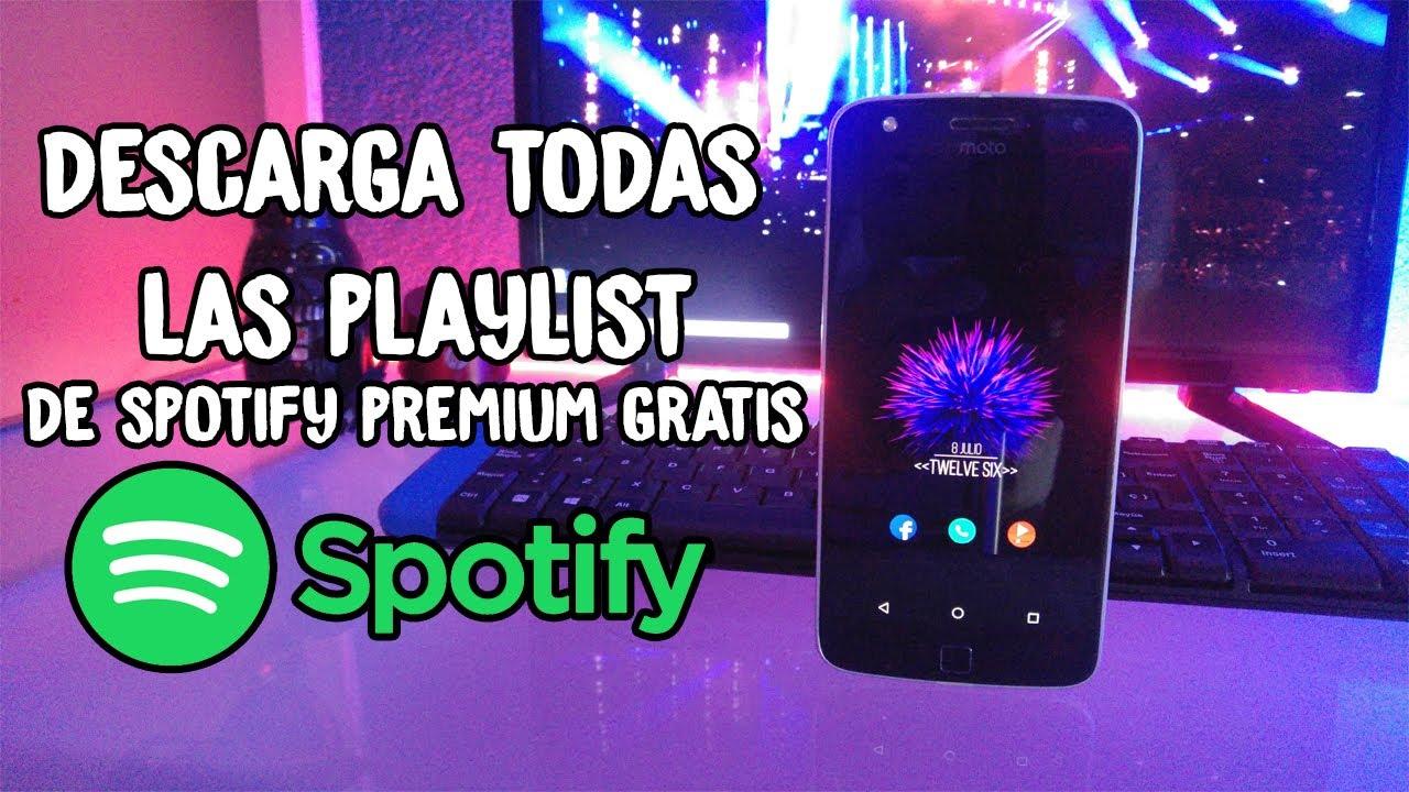 como descargar playlist de spotify premium