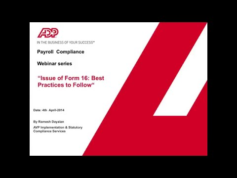 Issue of Form 16: Best practices to follow