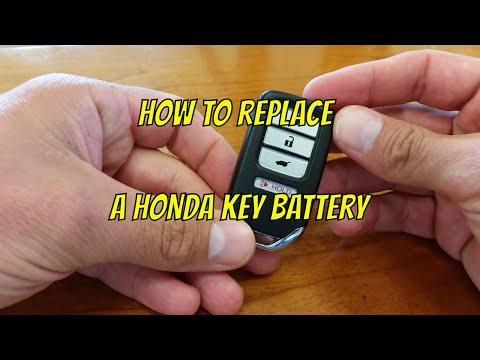Honda Key Fob Battery Change How To DIY