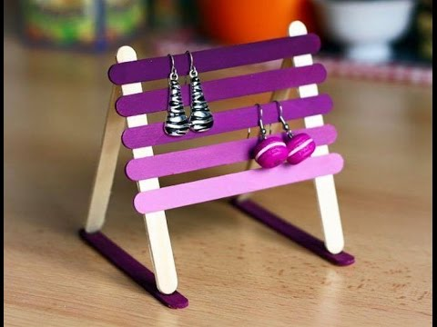Diy craft shelve jewelry cute for baby girl using for Cool popsicle stick creations