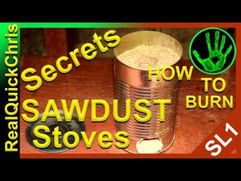 sawdust stove how to burn