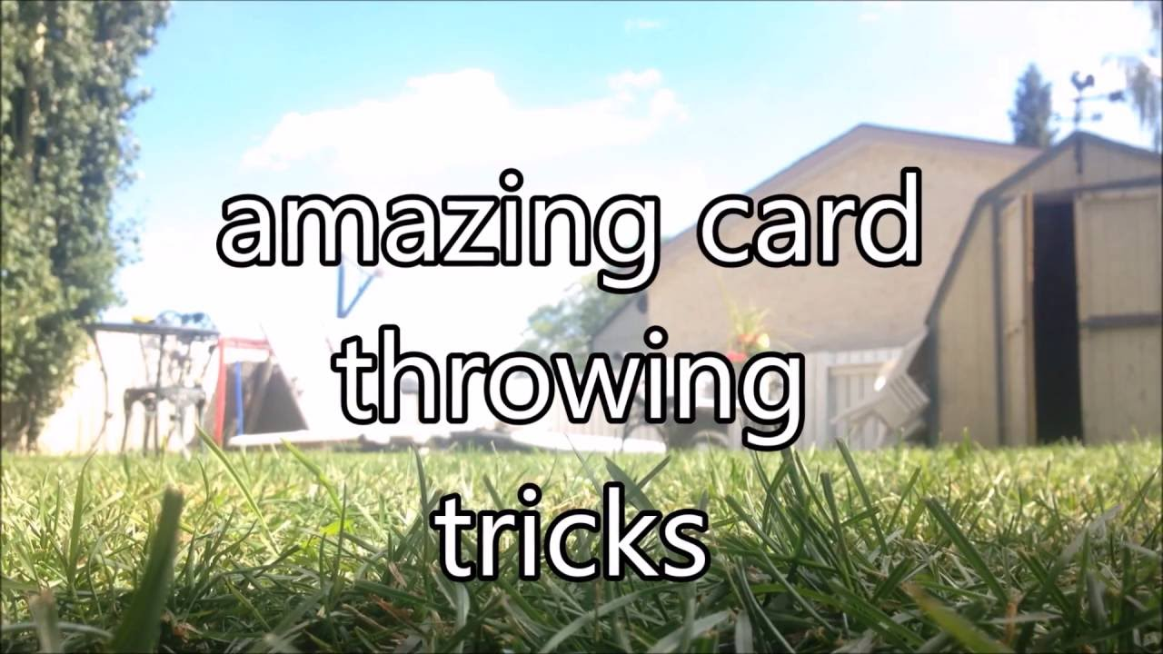 Insane card throwing trick shots youtube insane card throwing trick shots reheart Gallery