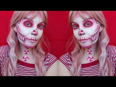 Peppermint Skull Makeup Tutorial thumbnail