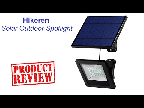 GO GREEN: Unboxing and Reviewing Solar Lights By Hikeren IP65 #Solar Lights 30 LED Spotlight