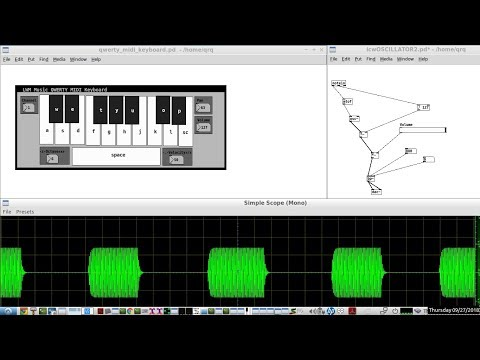 Use Your Computer Keyboard To Send Morse Code Audio CW Like A STRAIGHT KEY Using 2 Pure Data Patches