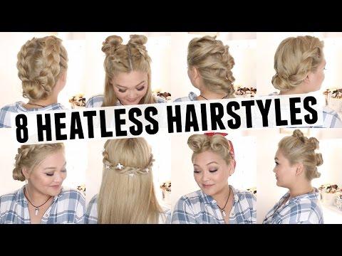 8 Heatless Hairstyles 2018