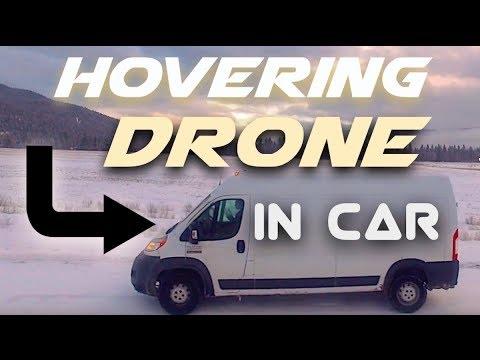 Flying a drone inside a car