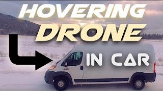 Flying a drone inside a car