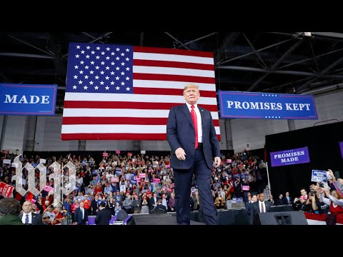 Trump holds a rally in Iowa