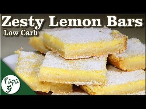 Low Carb Sweet and Zesty Lemon Bars Keto Lemon Fat Bombs